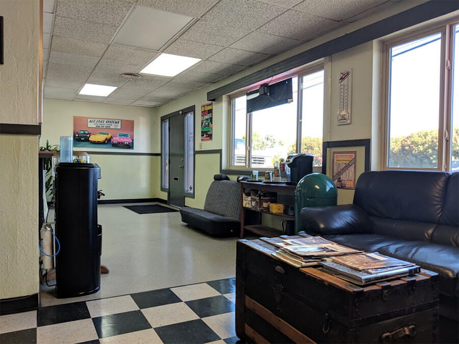 ace automotive and fuel systems waiting area